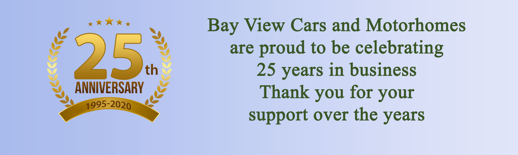 Celebrating 25 years at Bay View Cars